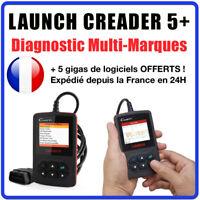 Valise Diagnostique Pro Multimarque En Français Obd Obd2 Diagnostic CREADER 5+