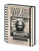 Official Harry Potter Sirius Black Wanted Hogwarts Notebook Lined A5 Film Gift