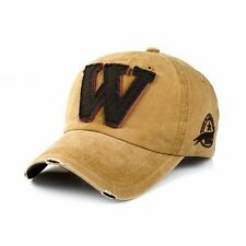 Men Women W Denim Baseball Cap Visor Snapback Hat Trucker Hip Hop Adjustable