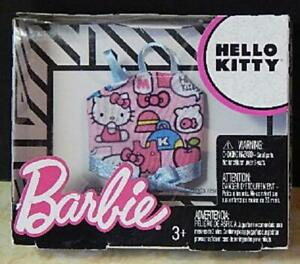 Barbie Hello Kitty Fashion Tank Top Doll Clothes Pink Blue Ribbon Strap Camisole
