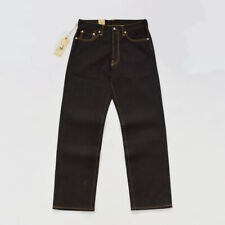 BOB DONG Black Heavyweight Selvage Denim 23oz Jeans For Men Regular Straight Fit