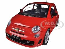 FIAT 500 ABARTH RED 1/18 DIECAST MODEL CAR BY MOTORMAX 79168