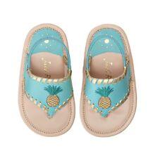 Jack Rogers Little Miss Pineapple Sandals Caribbean Blue/Gold Baby Girl Sz 2