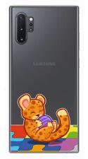 Funda Gel Transparente para Samsung Galaxy Note10+ diseño Leopardo Dibujos