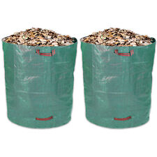 Schramm® 2 Stück Gartensäcke 500L Grün Robusten Polypropylen Gewebe  Gartensack