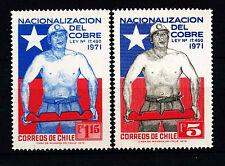Chile 1972 SG#695-6 Copper Mines Nationalization Law MNH Set #D37589
