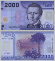 Chile 2000 Pesos 2009 Polymer p162a unz.