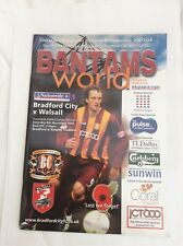 Bradford City v Walsall Nationwide   Leauge Division  1 November 2003