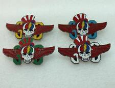 Grateful Dead 4 Pins Set Uncle Sam Skull Pin GD Wings Lighting Bolt