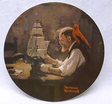 """Norman Rockwell collector plate """"The Ship Builder"""" 1980, Knowles"""