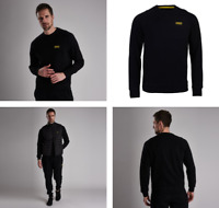 BARBOUR INTERNATIONAL Men's Essential Crew Sweatshirt, Black