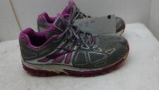 Brooks Ariel 14 Men's Gray Purple Mesh Athletic Sneaker Lace Up Shoes 10 (2E) 44