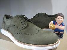 Cole Haan Lunargrand Wingtip Oxford Men's Shoes Size 10 M C11512 Olive Suede