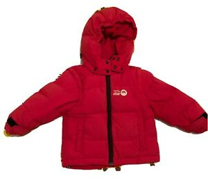 Spotty Otter Drift Down Coat Red Age 1-2 In Excellent Used Condition