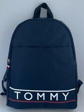 Tommy Hilfiger Logo Designer Nylon Backpack Shoulder Bag Navy Blue New Gift