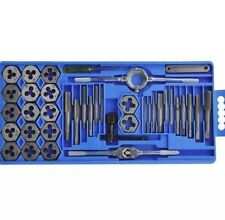 HEAVY DUTY 40 PCS METRIC TAP WRENCH AND DIE SET CUTS M3-M12 BOLTS UK SELLER NEW!