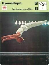 FICHE CARD: N. Andrianov URSS Parallel bars Barres parallèles Gymnastics 1970s