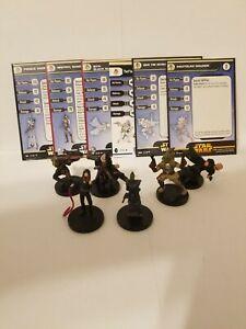 Star Wars Miniatures Prince Xizor & Shadow Guard Fringe Team Builder Lot