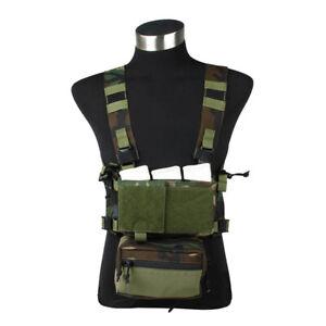 TMC Modular Lightweight Chest Rig Full Set (Woodland ) TMC3115-WL
