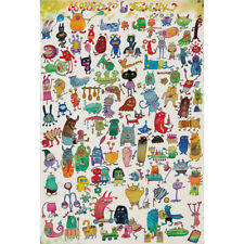 Wooden Jigsaw Puzzles 500 PCS Monsters Animals Kids Cartoon Painting Gift Decor