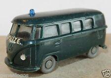 old WIKING HO 1/87 VW VOLKSWAGEN COMBI KOMBI T1 POLIZEI POLICE (Policía) b