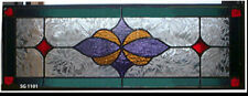 "Beautiful  Stained glass Transoms  10"" x 36""  Wow SG 1011"