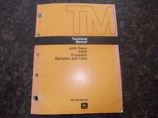 John Deere 495D Excavator Service Shop Technical Op Test Manual Tm-1456