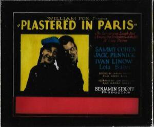 Plastered In Paris 1928 Vintage Glass Slide (No Frame) Sammy Cohen Jack Pennick