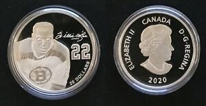 2020 - $20 Fine Silver Coin Black History Month Willie O'Ree !! Boston Bruins