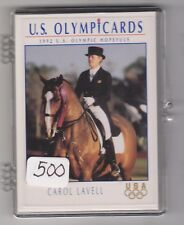 (500) 1992 US OLYMPIC HOPEFULS CAROL LAVELL CARDS #40 ~ GIANT LOT ~ EQUESTRIAN