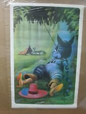 Puss in Boots vintage Poster 1970's cat kitty in#G4491