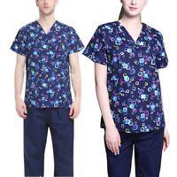 Doctor Nurse Uniform Set Operating Room Coveralls Nursing Scrub Tops & Pants