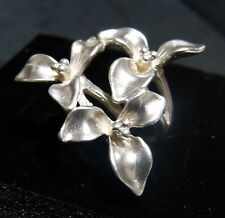 Anello con tre fiori realizzato artigianalmente in Argento  925 MILLESIMI
