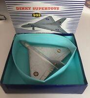 DINKY TOYS 749/992 AVRO VULCAN DELTA WING BOMBER - Vintage Original - Repro Box