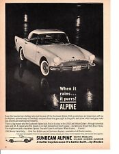 1962 SUNBEAM ALPINE ~ ORIGINAL CANADIAN PRINT AD
