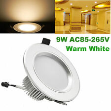 100pcs 9W Round LED Recessed Ceiling Panel Down Light Bulb Spot Lamp Warm White