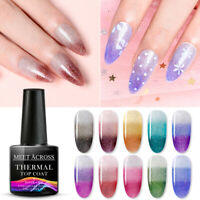 MEET ACROSS 8ml Thermal Gel Nail Polish Color Changing Soak Off UV LED Manicure