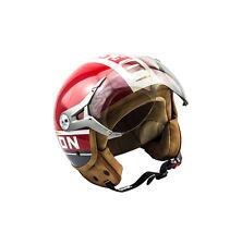 Soxon Sp-325 Plus Rouge Casque Jet Moto Urban Cruiser Pilot Helmet - S