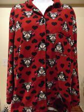 Disney Mickey kissing Minnie Women's Fleece Pajama set XL