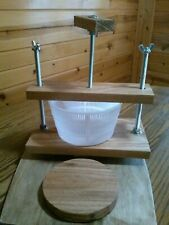 Cheese press Solid Oak made in Michigan 80# of force Hand made