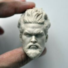 Blank 1/6 Arthur Curry Aquaman Head Sculpt Jason Momoa Unpainted Fit 12'' Body