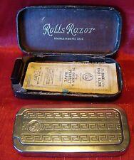 Vintage - Rolls Razor - Original Case - Instructions - Spare Blade & Holder