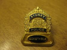 SIDNEY POLICE CONSTABLE  PIN BACK