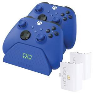 Xbox Series X / S Twin Charging Dock with Rechargeable Battery Packs - Blue