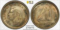 1937 Canada 10 Cents PCGS MS66 Lot#G405 Silver! Gem BU!