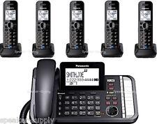 Panasonic 2 Line Bluetooth Corded 5 Cordless LInk2Cell KX-TG9582B +3 KX-TGA950B