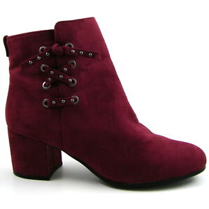 Circus by Sam Edelman Suede Ankle Boots Burgundy Size 9