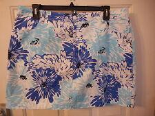 Women's St. John's Bay Secretly Slender Skort Size 4 Blue Floral  New