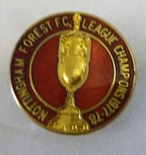 NOTTINGHAM FOREST Enamel Pin Badge LEAGUE CHAMPIONS 1977-78