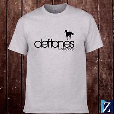 New T-Shirt Deftones White Pony Album Band Metal Logo Grey / Black Tee S-3Xl